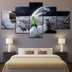 4222020-CV-26 Lost In Space Astronaut Drinking Movie 5 Piece Canvas Art Wall Decor - Canvas Prints Artwork