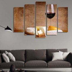 4222020-CV-35 Cake And Wine Kitchen Canvas Art Wall Decor - Canvas Prints Artwork