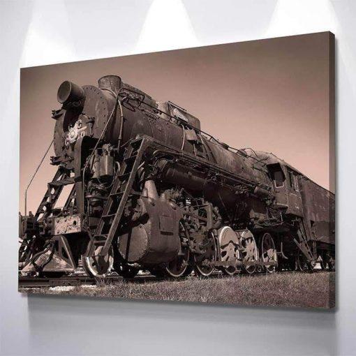 1-CV Steam Train 1 Piece Canvas Art Wall Decor – Canvas Prints Artwork