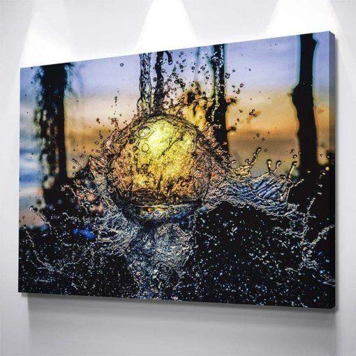 19-CV Water Ball 1 Piece Canvas Art Wall Decor – Canvas Prints Artwork