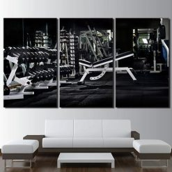 37-CV Limited Edition Gym 3 Piece Canvas Art Wall Decor – Canvas Prints Artwork