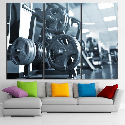 46-CV Limited Edition Weights 3 Piece Canvas Art Wall Decor – Canvas Prints Artwork
