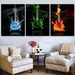 28-CV Limited Edition Guitar 3 Piece Canvas Art Wall Decor – Canvas Prints Artwork