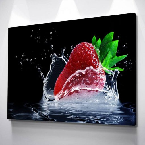 10-CV Strawberry Kitchen And Dining Room Wall Decor 1 Piece Canvas Art Wall Decor – Canvas Prints Artwork